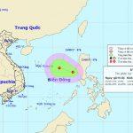 Áp thấp nhiệt đới hình thành ở biển Đông. Giật cấp 7-8