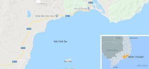 Tàu chở hơn 7.000 tấn than từ Quảng Ninh vào Bình Thuận thì bị mắc cạn.